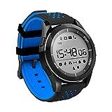 Redlemon Smartwatch Deportivo contra Agua con Funciones de Salud, Podómetro, Contador de Calorías y Kilómetros, Monitor de Sueño, Altímetro, Notificaciones y más. Azul