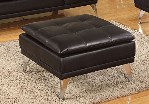 Black Leather Ottomans Storage Coffee Table etc