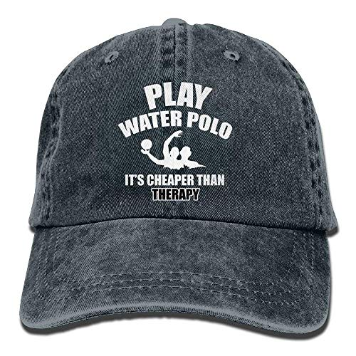 Walnut Cake Gorras béisbol Play Water Polo It's Cheaper Than Therapy Denim Hat Men's Mini Baseball Hat