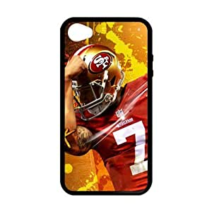 Custom Unique Design NFL San Francisco 49ers Colin Kaepernick Iphone 4 4S Silicone Case by icecream design