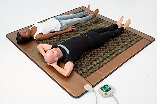 HealthyLine Infrared Heating Mat|Natural Jade & Tourmaline Stone 80'' x 76'' | Negative Ions (King) | Relieve Pain, Stress & Insomnia | FDA by HealthyLine (Image #4)