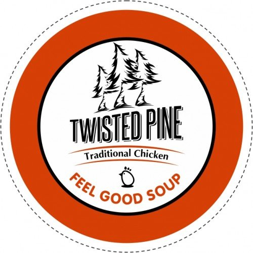 Twisted Pine Traditional Chicken Soup Broth, Single-Serve Cups for Keurig K-Cup Brewers, 80 Count
