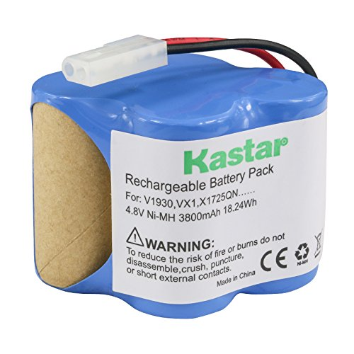 Kastar V1930 Battery (1 Pack), Ni-MH 4.8V 3800mAh, Replacement for Euro Pro Shark X1725QN, V1700Z, VX1, VAC-V1930, V1930, X8905 Cordless Sweeper Vacuum Cleaner (Shark Euro Pro Parts)