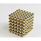 Neomagnets/Magnet Ball/Neocube/Buckyballs , gold,5mm, 216pc