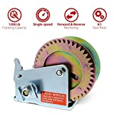 ABN Hand Winch Crank Gear Winch & Cable Heavy Duty, up to 1200lbs for Trailer, Boat or ATV