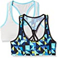 Fruit of the Loom Big Girls' Micro Stretch Sports Bra (Pack of 2)
