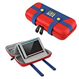 BUBM Hard Shell Travel Organizer for Nintendo Switch Console, Game Cards, Joy Cons and Accessories, Red (Switch-MLA)
