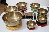 Chakra Healing Tibetan Singing Bowl Set of 7 Hand Hammered Himalayan Meditation Bowls From Nepal