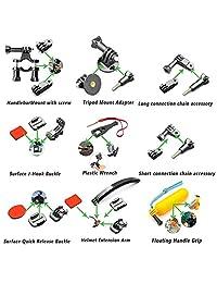 ? Accesorios para exteriores SmilePowo para la cámara GoPro Hero 5 Session 6 5 4 3 2 1, AKASO EK7000, EK5000, SJCAM, DBPOWER, xiaomi YI, paquete de fotos (51 en 1)