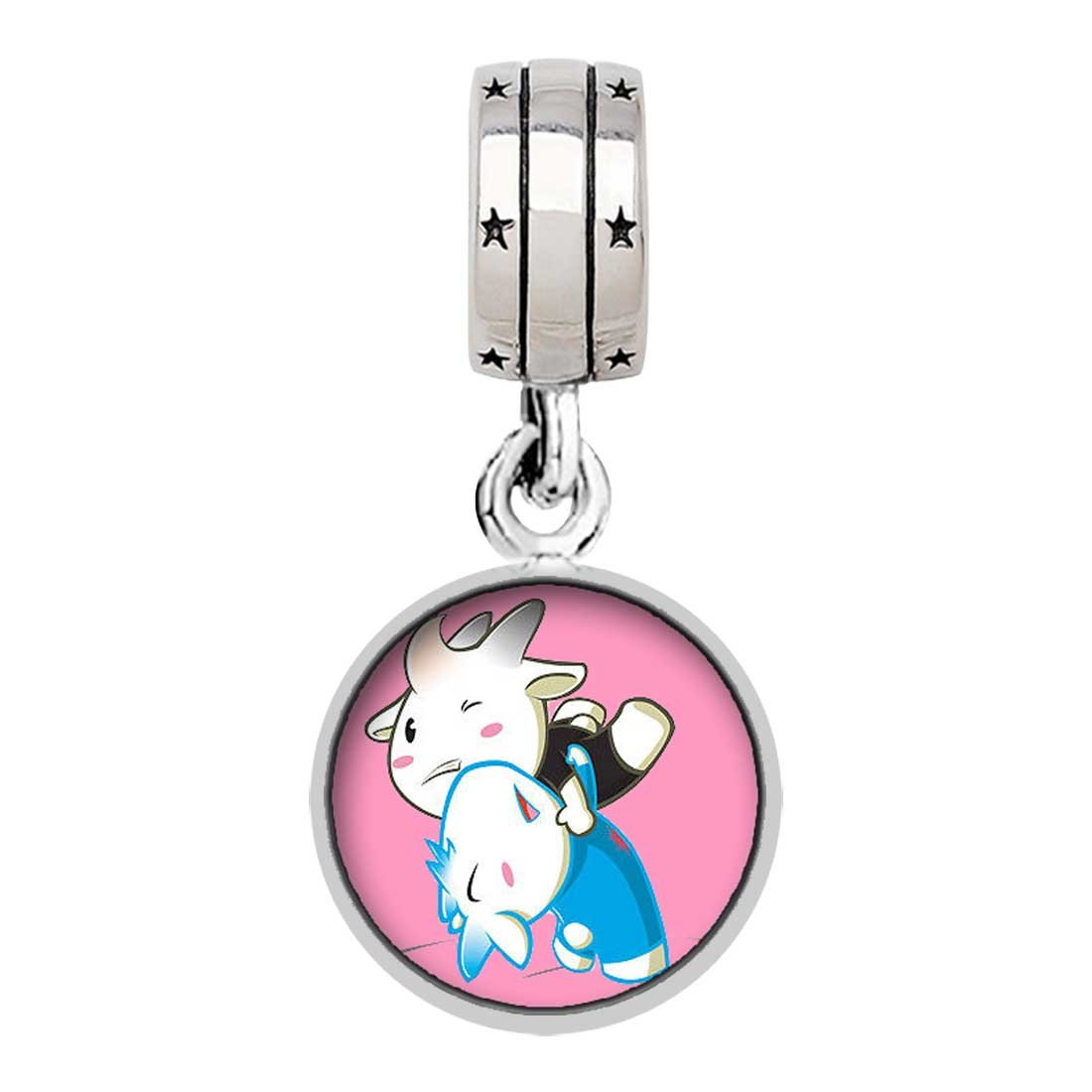 Olympics Wrestling cartoon Photo ''With God All Things Are Possible'' Religious Dangle Charm Bracelets