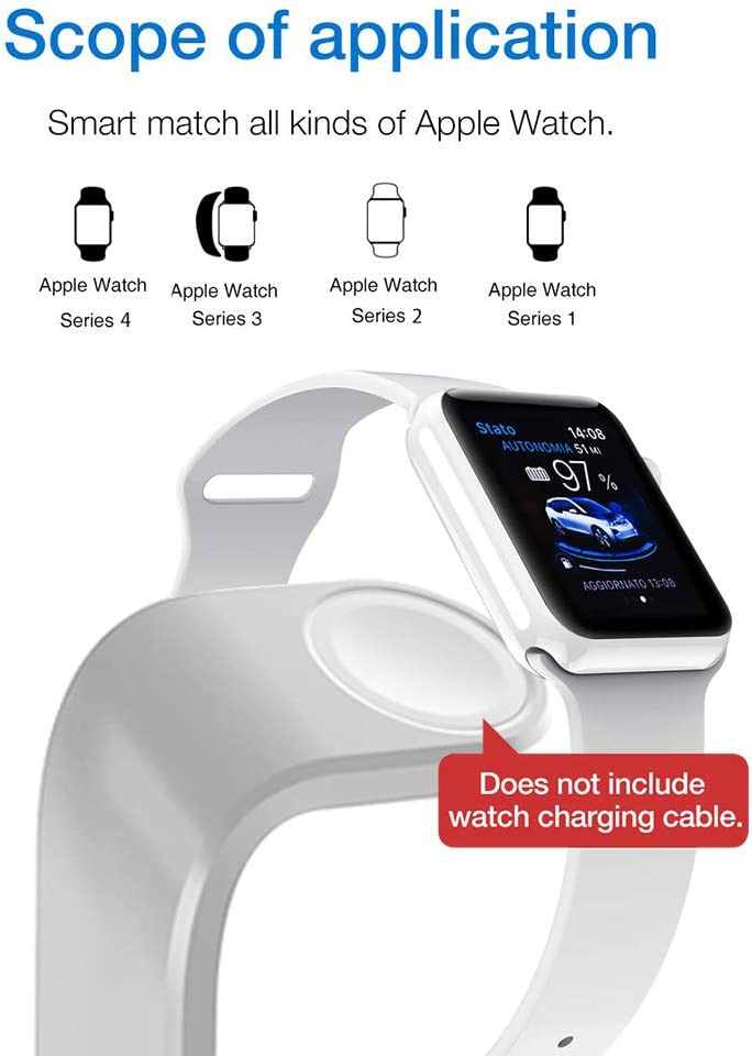 Wireless Charger DoSHIn 3 in 1 Wireless Charger Stand Compatible with iWatch Series 5//4//3//2//1;10W Fast Charger Docking Station Compatible with iPhone 11 Pro//XS MAX//XS//XR//X,Samsung Galaxy S10 Airpods