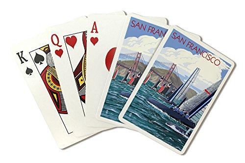 San Francisco, California - Sailboat Race (Playing Card Deck - 52 Card Poker Size with Jokers)