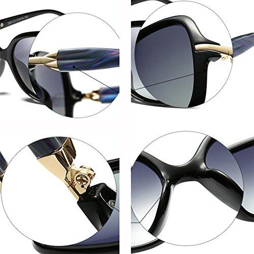 Tea Polarizada Negro Caja Manejar Cara Gradual Cara Retro Luz Elegante Moda Sol Cambio De Pequeña Redonda Pequeña WX Gafas xin Color RqECSWcw7H
