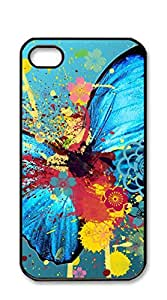 NBcase Abstract Butterfly hard PC iphone 4 case for men funny