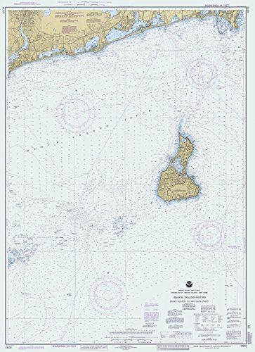 Map | Block Island Sound Pt Judith To Montauk Pt, 1997 Nautical NOAA Chart | New York, Rhode Island, Connecticut Vintage Wall Art | 24in x 33in Block City Map Art