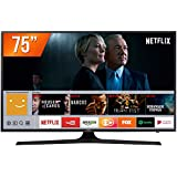 Smart TV LED UHD 4K 75'', Samsung UN75MU6100GXZD, Preto