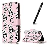 iPhone 8 Case, iPhone 8 Case Wallet,iPhone 8 Phone Case,Slynmax Ultra Slim Fit Bookstyle Oil Cute Panda Design Folio Premium PU Flip Leather Case Wallet with Foldable Stand View