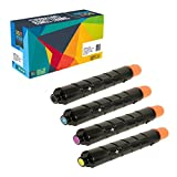 Do it Wiser Compatible Toner Set Black Cyan Magenta Yellow For Canon ImageRunner Advance C2020 C2030 C2220 C2225 C2230 - 3782B003AA 3783B003AA 3784B003AA 3785B003AA GPR-36 - Black Yield 23,000 Pages and Color Yield 19,000 Pages (Set of 4)