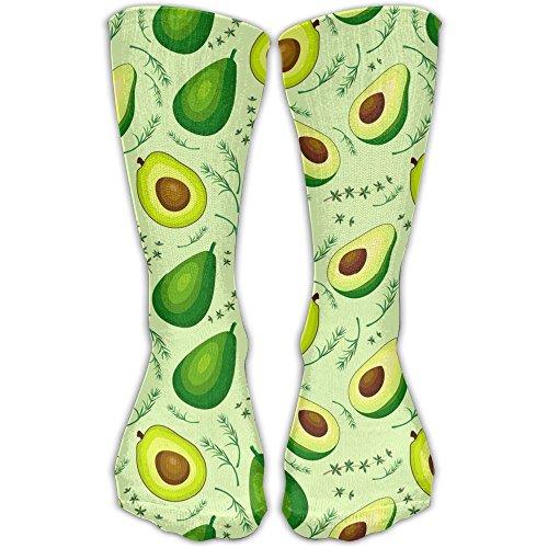 Men Women Novelty Fresh Fruits Avocado Icons Funky High Sock Athletic Team Stocking Unisex