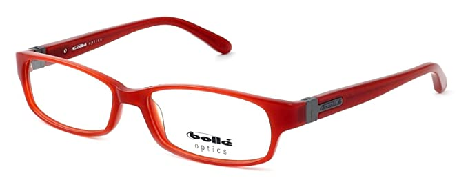 Amazon.com: Bolle Optical Deauville Eyeglass Frame in Brick Red ...