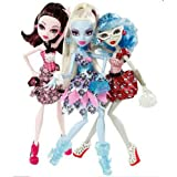 Monster High Doll Exclusive Dot Dead Gorgeous ~ 3 Pack Draculaura, Abbey Bominable, Ghoulia Yelps, Baby & Kids Zone