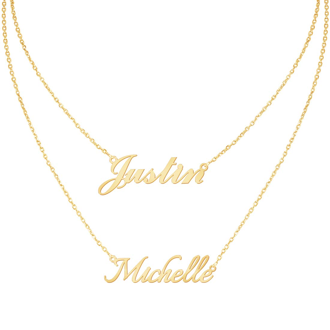 24ddf15130924 Custom4U Personalized Name Necklace Custom Made Pendant Jewelry Gift for  Women