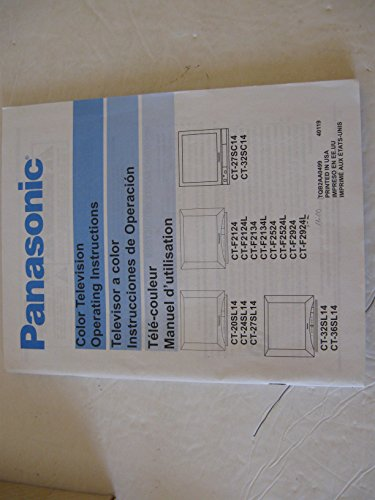 Instruction manual, user's guide, operating, owner's, manual for panasonic color television,