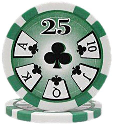 Trademark Poker High Roller 100 Poker Chips (25-Piece), 11.5gm