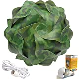 Cospring Printed IQ Puzzle Lamp Shade with 5W LED Bulb and 3.6M Wire w/Plug-Camouflage