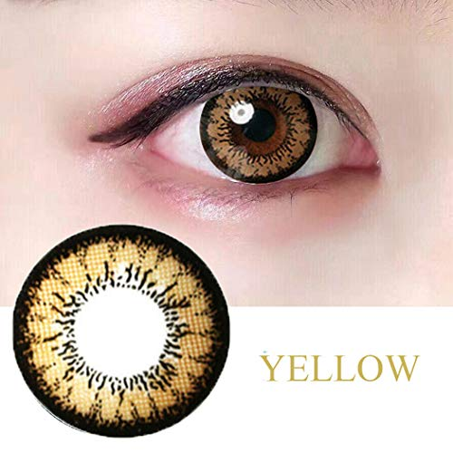 Women Multi-Color Colored Cute Charm and Attractive Fashion Contact Lenses Cosmetic Makeup Eye Shadow (Blue)
