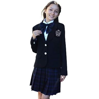 6a4326ae7a2 Amazon | 卒業式 スーツ 女の子 小学生 140 150 160 165 6点セット 子供 ...