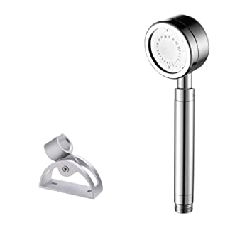 space aluminum shower shower head Turbo handheld showerhead Water heater shower Kit bath shower-E