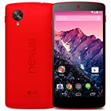 NEW 16GB LG GOOGLE NEXUS 5 IN BRIGHT RED D821 FACTORY UNLOCKED 2013 LTE 4G 3G (2G & 3G 800/850/900/(1700/2100)/1900/2100 & 4G LTE 800/850/900/1800/1900/2100/2600)