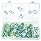 Swordfish 31261 - 30pc Carabiner, D-shackle & Wire Rope Clip Assortment