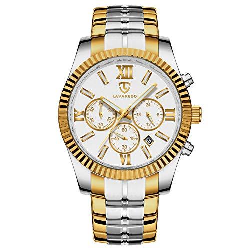 Watch, Men Watches, Luxury Business Classic Stainless Steel Waterproof Luminous Chronograph Date Dress Quartz Analog Wrist Watch