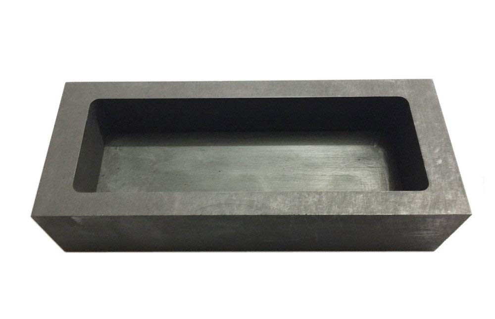 OTOOLWORLD Gold Silver Graphite Ingot Mold Mould Crucible for Melting Casting Refining (1250g)