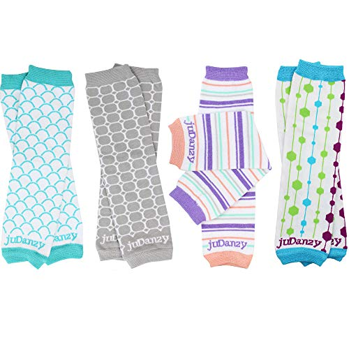 juDanzy 4-pack Organic baby & toddler leg warmers gift set for boys & girls (One Size (12 pounds to 10 years), - Baby Organic Legs Leggings