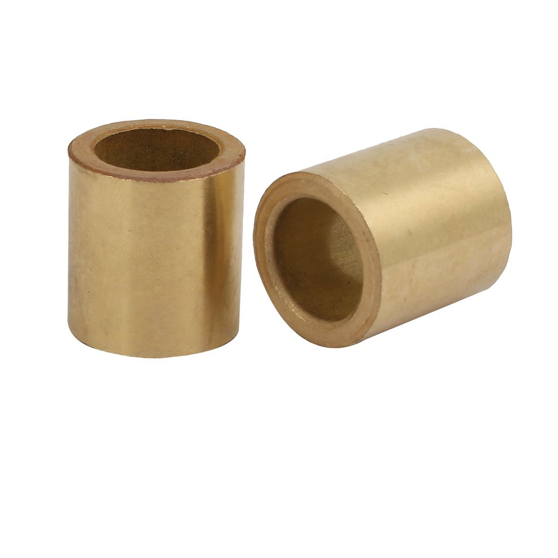 uxcell14mmx20mmx22mm Powdered Metal Bronze Sleeve Bearing Bushing Gold Tone 2pcs a17073100ux0047