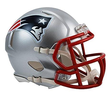 bb84de8002ec5 Riddell RIDDMININEPSP NFL New England Patriots Revolution Speed Mini Helmet