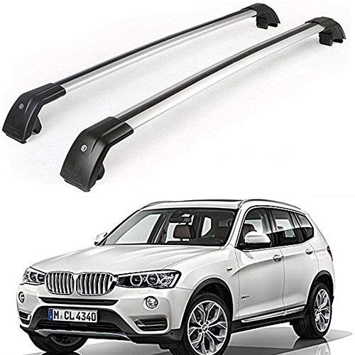 Mophorn Roof Rack Cross Bars Baggage Locking Roof Rail Crossbars Luggage Cargo Ladder Bike Load Roof Cross Bars Black for BMW, for BMW X1 E84 X3 F25 2010-2018 Black
