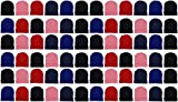 48 Pack Kids Winter Beanies, Warm Cold Weather Hats for Boys Girls Children, School Outdoors, Bulk Gift, Wholesale (48 Pack Assorted Solids)
