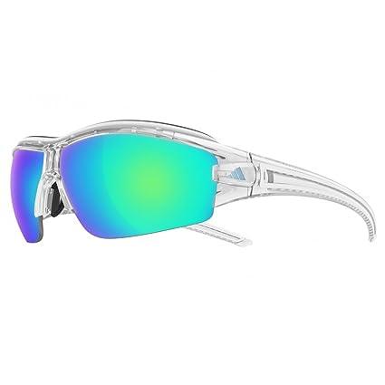 finest selection 89e79 337f5 Adidas Eyewear Evil Eye Halfrim Pro S Sunglasses - Crystal Shiny Frame -  Blue Mirror Lens - 0-A19800 6098 0000, Sport Sunglasses - Amazon Canada