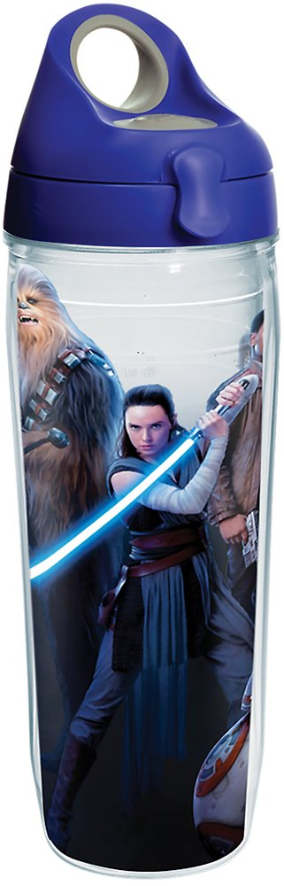 Clear Tervis 1281669 Star Wars Last Jedi Group Tumbler with Wrap and Blue Lid 16oz