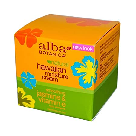 Amazon.com: Alba Botanica Hawaiian Moisture Cream, Soothing Jasmine & Vitamin E 3 oz (Pack: Health & Personal Care