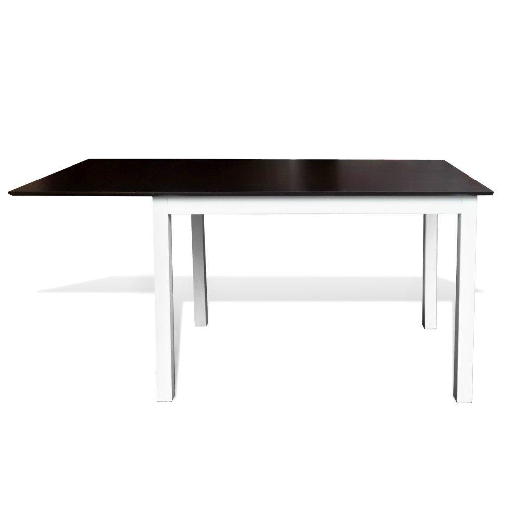 vidaxl set tavolo da pranzo con estensione e 6 sedie in legno ... - Sala Da Pranzo Tavolo E Sedie Estensione