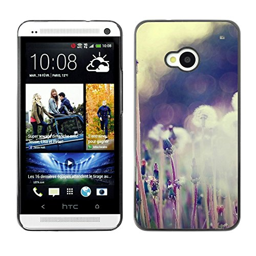 Soft Silicone Rubber Case Hard Cover Protective Accessory Compatible with HTC ONE M7 2013 - Plant Nature Forrest Flower 59