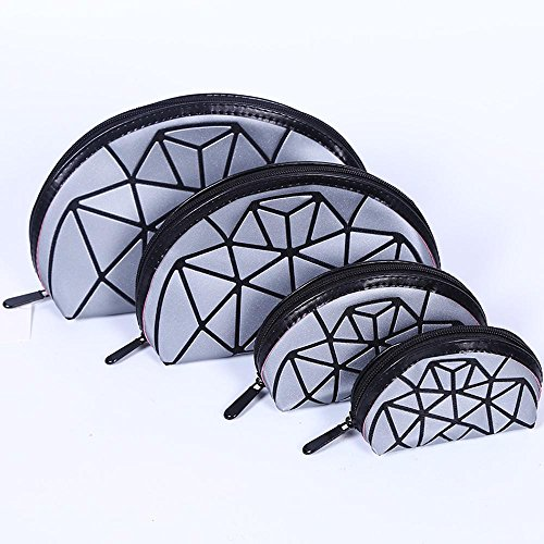 Aoligei 0 portefeuilles, quatre pièces, moitié un gommage de Dame du demi-cercle, cube Diamond Japonais-style sac à main D