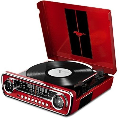 Ion Audio Mustang Lp Ford 4 In 1 Classic Car Styled Music Center  Red