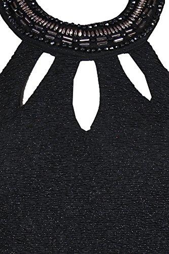 Betsy Adam Petite Noir Sans Manches Robe De Trou De Serrure Cou Embelli P