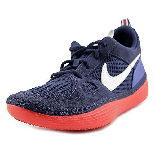 Nike Solarsoft Courir Espadrilles De Course Pour Hommes Bleu Marine Rouge Bleu